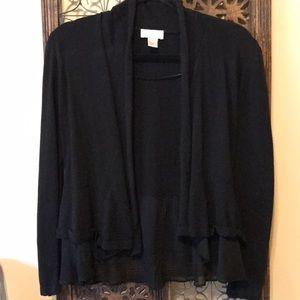 LOFT black cardigan sweater. Size S.
